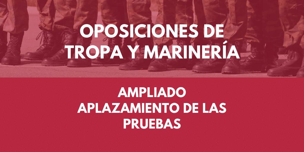 Convocatoria de Oposiciones para militar de Tropa y marinería 1
