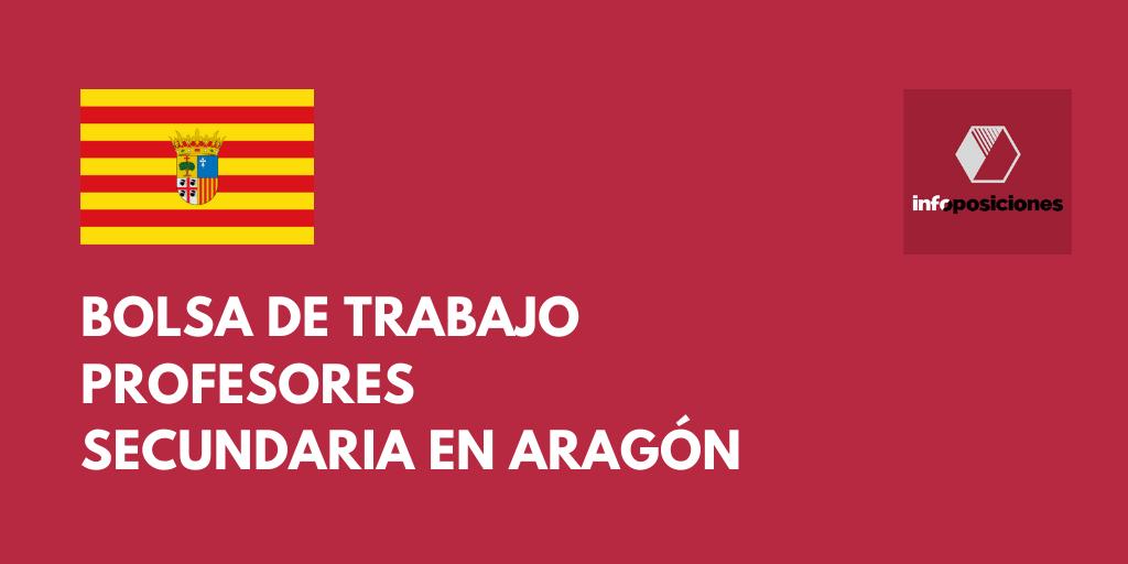 Abierta bolsa de trabajo para profesores de Secundaria en Aragón